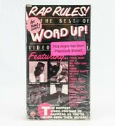 The Best Of Word Up Video Magazine Vhs 1990 Rap Rules Hip Hop Super Rare Tape