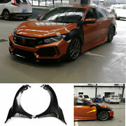 For 2016-2020 Honda Civic Type-r Steel Fender Side Air Outlet Wide Body Trim