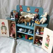 Decoupage Cabinet And Accessories French Made 1940s 1950s Vintage Doll House F/s