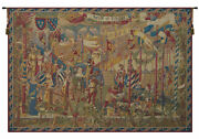 A La Cour Du Roy Medieval Decorative French Tapestry Wall Art Hanging New