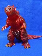 Godzilla Millennium Millegoji Red Glitter Soft Vinyl Marmit Toho Movie Used Good