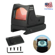 Mini Holographic Rmr Red Dot Sight Collimator Scope 20mm Rail For Glock 17 19 Us