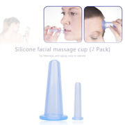 2pcs Silicone Cupping Suction Can Vacuum Face Leg Arm Relaxation Massage Cup Suc