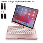 For Ipad 10.2and039and039 2019 8 Th 2020 Rotate Colorful Backlight Wireless Bluetooth Keyb