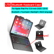Bluetooth Keyboard Case For Ipad Pro 12.9 Inch 2020 2018 Touchpad Backlight Trac