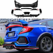 Unpainted Fit For Honda Civic Type R 2016-20 Rear Skid Plate Bumper Board Guard