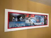 Michael Air Jordan Poster 25andrdquo X 75 Nike 1998 Professionally Framed And Flawless
