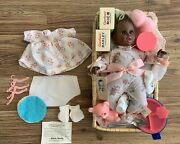 Black Gerber Baby Doll 1979 -12 Atlanta Novelty Basket, Clothes, And Accessories