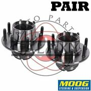 Moog New Replacement Front Wheel Hub Bearings Pair For F-250 F-350 Super Duty