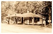 Rp Rare Socony Gas Station Barretts Bald Mt Rest Old Forge Ny Real Photo B607