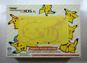 New Nintendo 3ds Xl Pokemon Pikachu Yellow Edition Us Console -ships In A Box