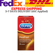 Durex Real Feel Condoms 10and039s X 5 Boxes Free Express Shipping