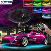 Phone Control Rgb Led Underbody Neon Light Chassis Atmosphere Lamp 4x For Toyota