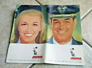 1967 Iberia Airlines Welcome On Board Aboard Illustrated Booklet Pamphlet
