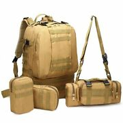 25-50l Waterproof Tactical Backpack 4 In 1 Camouflage Millitary Backpack Army