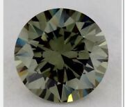Natural Color And Clarity Diamond Round 1.02 Ct Vvs1 Fancy Intense Green Ex Ex