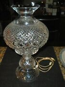 Waterford Crystal Inishmore 19 Inch Electric Lamp Excellent Condition