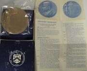 President Theodore Roosevelt Us Mint Peace Bronze Medal 2 3/4 Inches Sealed