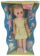 Walking Doll Collette Vintage 24 New In Box Nos Blonde Girl Toy Blue Eyes Retro