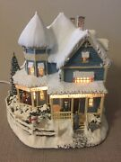 Thomas Kinkade's Village Christmas Collection - Holiday Bed And Breakfast W/coa