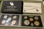 2017 S Enhanced Uncirculated 225th Anniv. United States 10 Coin Set Ogp