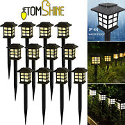 Tomshine Solar Power Led Lawn Lights Outdoor Garden Walkway Pathway Lamps O9i3