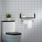 Wall Mounted Paper Towel Holder With Shelf Under Cabinet For Bathroom Kitchen