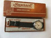 Vtg Ingersoll No.32071 Wristwatch In Boxwatch Manufactured By Us Time Corp.