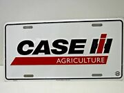 Case Ih Agriculture White License Plate