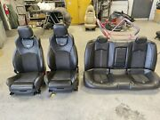 2012 Cadillac Cts-v Recaro Black Leather W/ Suede Seats Cts Front And Rear Sedan