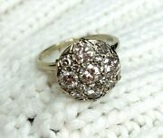 1.30cts Diamond Engagement Ring 14 White Gold Rings Size 8.00