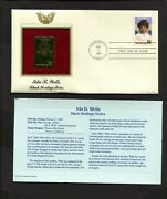 Black Heritage Ida B Wells First Day Cover With Gold Stamp Replica Scott 2442