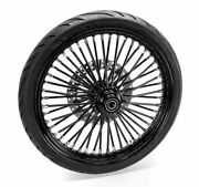 21 X 3.5 46 Fat King Spoke Front Bw Package Black Out Rim Harley Softail Sd 25mm