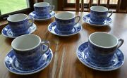 6 Sets Shenango Baltimore And Ohio Rr Dining Car Cup And Saucers