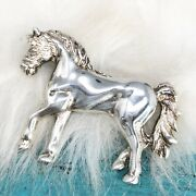 Vintage Sterling Silver Horse Equestrian Figural Brooch Pin Jewelry Taxco Mexico