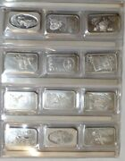 Collection Of 58 Madison Mint Silver Ingots