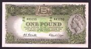 Australia R-34. 1961 One Pound.. Coombs/wilson.. Reserve Bank... Unc