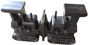 Restoration Hardware Tractor Cast Iron Bookends Construction Color Dark Steal