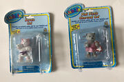 Webkinz Ganz Pink Charcoal Cat And Karate Cat W/ Online Codes Inside New Sealed