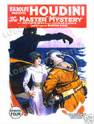 The Master Mystery Lobby Card Poster Os 1919 Harry Houdini Serial Episode 4
