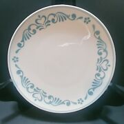 Franciscan Blue Fancy Whitestone Ware 4 Bread And Butter Plates