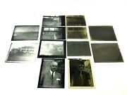 Antique Lot Old Homes Neighborhood Portrait Glass Negatives With Photographs