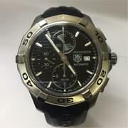 Tag Heuer Aquaracer Automatic Cap2110-0 Date Chronograph Menand039s Watch Wl27526