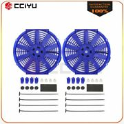 Universal Slim 12 Radiator Condenser Cooling Fan For 2002-2006 Acura Rsx
