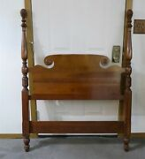 Vintage Cherry Pineapple Post Twin Beds - Matching Pair - With Orig. Side Rails