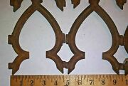 12 Vintage Wrought Iron Spade Shaped Fence Garden Gate Sections
