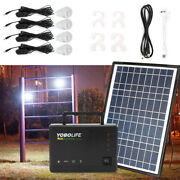Rechargeable Solar Panel Kit 4a 12v Battery Charger With Usb 45w Led Bulb Black