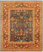 Hand-knotted Carpet 8and0390 X 9and0398 Traditional Vintage Wool Rug
