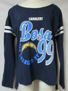Touch By Alyssa Milano Chargers Bosa Womens S Or M Long Sleeve T-shirt A1 3263
