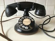 Vintage Art Deco Bell System By Western Electric B1 Phone Rotary Dial Black